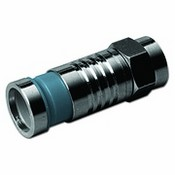 Channel Vision 2134 F-Type connector- Push & Seal for RG6 Quad (Blue) - Waterproof