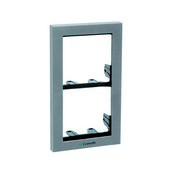 Comelit 3311-2S, Module-Holder Frame Complete With Cornice For 2 Module- Silver Color