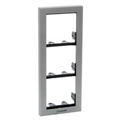 Comelit 3311-3G, Module-Holder Frame Complete with Cornice for 3 Modules, Grey color