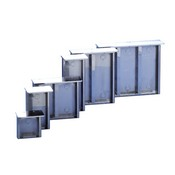 Comelit 3319-2 Stainless Steel Surface-Mounting box, with Rain Shield, for 2 Modules