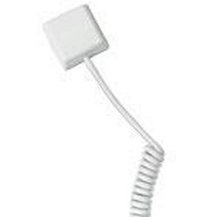 GE Security 5150C-W Shock Sensor with Coil Cord, White, 3'