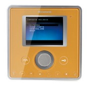 Comelit 6101J, Planux Video Monitor Front Template, Gold Colour