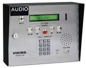 Viking Electronics AES-2000S 75 Name Apartment Entry System with Display & V