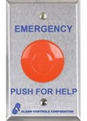 Alarm Controls PBM-1-1 Momentary Panic Button 302 Stainless Steel Plate