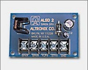 Altronix ALSD2 6VDC to 12VDC Operation, 2 Channel (Yelp & Steady), Compact Design, Very Low Current Draw