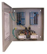 Altronix ALTV2416ULCBX 16 Output Power Supply, 24/28 VAC, 7/6 Amp, Circuit Breaker, UL Listed, Large Cabinet