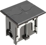 Arlington Industries FLBAF101BL Adjustable Floor Box W/Flip Lid