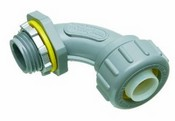 Arlington Industries NMLT9050 1 90 Degree Non-Metallic Liquid-Tight Connector, 1/2 Inch