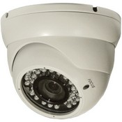ARM Electronics C540MDIRVFW Varifocal IR Mini Dome Camera (Off White)