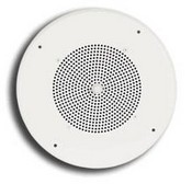 Bogen S86T725PG8WBRVK Ceiling Speaker Off-White, Volume Control w/Knob (VK) & Screw Terminals (BR)