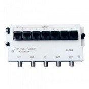 Channel Vision C-0214 Basic Service Module With RJ45, 4 Way RF Splitter