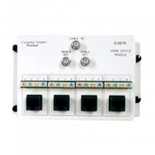 Channel Vision C-0215 2 Way RF and 4 110/RJ45?s Splitter