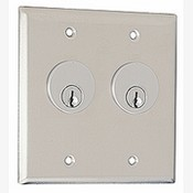 Camden CM-3500 Dual Gang Dual Cylinder Key Switch - Stainless Steel Faceplate