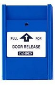Camden CM-701PC 1xN/C Pull for Door Release Blue Pull Station with Clear Lift Cover