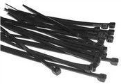 Dolphin DC4B 4 Inch Black Cable Tie 100 Per Bag