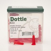 L.H Dottie 20 #4-6-8 Tapered Anchors with Collar (RED)