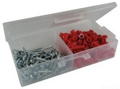 L.H. Dottie RD2 Anchor Kit, 6 by 1-Inch Length Screw, 21 Anchor, Red