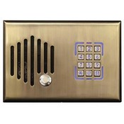 Channel Vision DS3-0232 Telephone Entry Door Intercom with Keypad - Antique Brass Finish