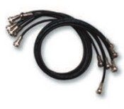 Tyco Safety Products 14790081 Concourse Pro RG59 Mini-Coax Patch Cable - Black 18 Inch