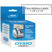Dymo 30254 LabelWriter Address Labels Clear (1 1/8 x 3 1/2
