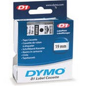 Dymo 45803 Standard D1 Labels (Black Print, White Tape - 3/4