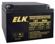 ELK ELK-12260 Battery, Lead Acid 12V-26.0Ah