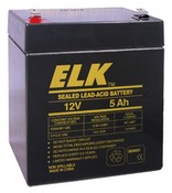 ELK ELK-1250 Battery, Lead Acid 12V-5.0Ah