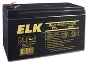 ELK ELK-1280 Battery, Lead Acid 12V-8.0Ah