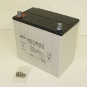 Enersys NP55-12 12 Volt/55 Amp Hour Sealed Lead Acid Battery with Nut & Bolt Terminal