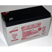 Enersys NP7-12T 12 Volt/7 Amp Hour Sealed Lead Acid Battery with 0.250 Fast-on Connector
