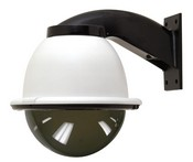 "Videolarm FDW8TF2 8"" Outdoor Dome Housing With Wall Mount, Tinted Dome, 24Vac Input"