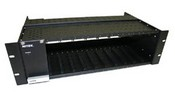 Nitek FRS1000 Fiber Equipment Sub Rack & 100 Watt Linear Power Supply