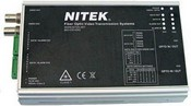 Nitek FRS324104S00 2 Channel Video & Data Fiber Optic Receiver W/ Bi-directional Data & Aux Comm