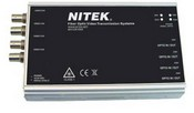 Nitek FTS541000S00 4 Channel Multiplexed Video Only Fiber Optic Transmitter