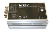 Nitek FTS541100S00 4 Channel Fiber Optic Video & Data Transmitter W/ Bi-Directional RS422/485/232