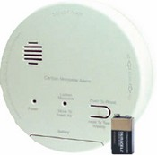 Gentex CO1209F 120VAC CO Detector with 9V Battery Backup, Relay