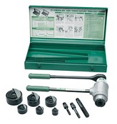 Greenlee-Textron 1906SB Slug-Buster Ratchet Punch Driver Kit With Conduit Size Punches