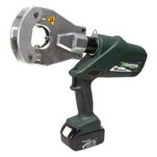 Greenlee-Textron EK06FTL120 Gator Battery-Powered Quad-Point Flip-Top Dieless Crimping Tool with 120-Volt AC Corded Adaptor