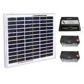 Golden State Instrument GSSOLPK1 12 VDC Solar Pack Starter Kit, 30 Watt