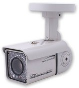 Speco HT7816DNV Heat IR Series Day/Night Square Bullet Camera, 3.8-9.5mm AI Lens, 520/580 TVL