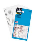 Ideal Industries 44-109 Wire Marker Booklet, Legend: (6) 1-15, (4) 16-90, (2) A-Z, +, -, /, 0