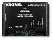 Viking Electronics K-202-DVA 2 Input Alarm Dialer with Digital Announ