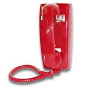 Viking Electronics K1500PW Red Wall Phone with Ringer No Dial
