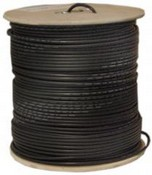 Keystone Wire & Cable P1526 1M Spoolplenum Siamese Cable RG59