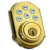 Kwikset Corporation 99100-015 ZigBee Motorized Deadbolt w/Home Connect - Polished Brass