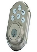 Kwikset Corporation 99100-016 ZigBee Motorized Deadbolt w/Home Connect - Satin Nickel