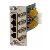 Lan Power Systems VP-6006 4-Port Short Haul Card with Ground Loop Control - RJ45 (In) to BNC (Out)
