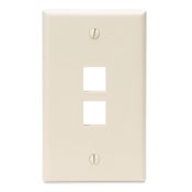 Leviton Manufacturing 410802TP 2 Port Faceplate Light Almond