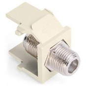 Leviton 41084-FAF F-Type QuickPort Snap-In Adapter - Almond