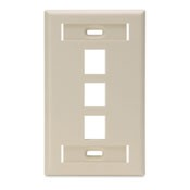 Leviton Manufacturing 420803IS 3 Port Faceplate With Mark Strips Ivory